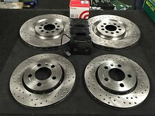 SEAT LEON 1.8 TURBO CUPRA R S3 FRONT REAR CROSS DRILLED BRAKE DISC FRONT PADS