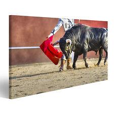 Bild auf Leinwand Kämpfe Stier Bild aus Spanien. Schwarzer Bulle CWR-1K