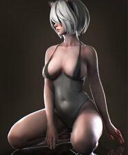 1/8 130mm Resin Figure Model Kit Sexy Girl Female Catwoman Unpainted Unassambled