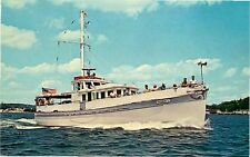 Postcard Excursion Ship Magnum II, Boothbay Harbor, Maine - used in 1965