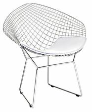 Bertoia Wire Diamond Chair Replica - White Seat