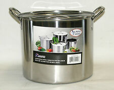 Stainless Steel Stock Pot Set 16 QT Quart Soup Beer Brewing Gumbo Tamale NOTE*