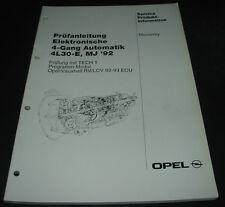 Werkstatthandbuch Opel Monterey Prüfanleitung 4 Gang Automatik 4L30-E ab 1992