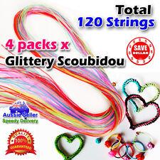 120p Glittery Strings Scoubidou Scoobie Scooby Fashion PVC Knit Craft Colour Art