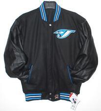 SIZE XL MLB TORONTO BLUE JAYS WOOL BODY & LEATHER SLEEVES REVERSIBLE Jacket XL