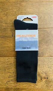 Realtree Liner Sock Black Knee High Sock Size Large New In Package NIP
