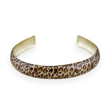 Goldfarben Emaille Leopardenmuster Armreif Armband