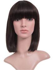 Extensions de cheveux franges bruns pour femme