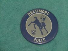 VINTAGE 1960's  BALTIMORE COLTS  3 1/2 INCH LARGE PIN