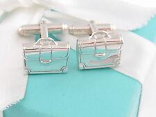 Tiffany & Co Briefcase Brief Case Cuff Link CuffLinks Box Pouch Card Ribbon
