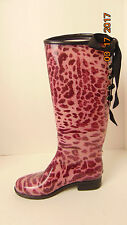 Dav Rubber Rain Boots Womans Size 6- Lace Up Paisley Good  Condition!!