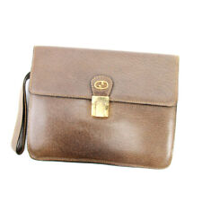 Gucci Clutch Bag Old Gucci Leather Used Auth T10210