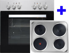 COCINA EMPOTRABLE ACERO inox. 60cm encimera + Horno gussplatten Horno 4 placas