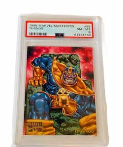 Marvel Masterpieces Comic Card Sky Box PSA 8 Thanos #99 Infinity Glove skull sp