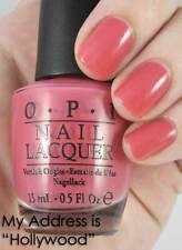 """NEW! OPI Nail Polish Vernis MY ADDRESS IS """"HOLLYWOOD"""" ~ Rose Pink"""