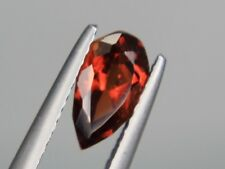 Spessartine Garnet Pear 8x5mm Orange Natural Loose Gemstone Afghanistan