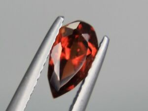 Spessartine Garnet Pear 8x5mm Orange Natural Loose Gemstone Afghanistan
