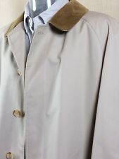 Vintage Grenfell Mens Trench Coat Made In England Size Large Mac Over Coat VGC