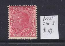 New listing Victoria 1d Qv Postage Type Muh Die 3