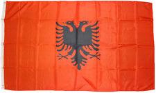 XXL Bandiera Albania 250 x 150 cm mit 3 Occhielli metallo sollevamento tempesta