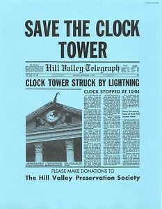 Back To The Future Save The Clock Tower Flyer Prop/Replica *CLEARANCE ITEM*