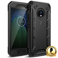 Poetic Moto G5 Plus (2017) [Revolution] Case With Built-In Screen Protector BLK