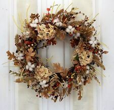 Autumn Cotton Fields Fall Decorative Wreath Front Door Indoor Autumn Decor