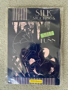 VINTAGE Funn Silk Stockings With Seams, White Large, slightly imperfect