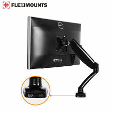 "Monitor LCD Arm Stand Desk Mount Holder 19 20 21 22 23 24 26 27"" W/ 2 USB Ports"