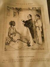 Litho 1843 - Civilisation aux iles marquises le percepteur des contributions