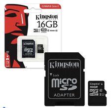 6 X Kingston Canvas Select MicroSDHC MemoryCard 80MB/s UHS-1 Class 10 - 16GB