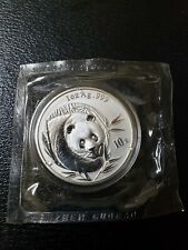 2003 China Panda 10 Yuan 1 Ounce Silver Coin Mint Sealed