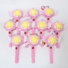 Cardcaptor Sakura Kinomoto Sakura Magic Wand Star Key Plush Toy Keychain Keyring