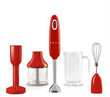 Smeg Hand Blender With Accessories - Red