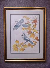 Audubon Print The Blue Jay Albert Gilbert Engraved by Yves Beaujard Signed