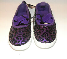 Chatties Toddler Girls Slip On Shoes Purple Leopard Spots Size 7/8 Nwt