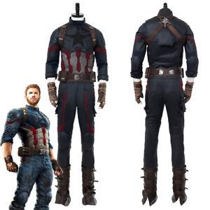 Avengers: Infinity War Captain America Costume Steve Rogers Uniform Cosplay
