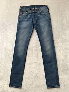 Genuine Authentic True Religion Rocco Relaxed Skinny Denim Jeans Size 31W 34L
