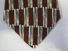 Viaggio Tie Necktie Silk 57.5 x 4 maroon green gold 13319 FREE US SHIP