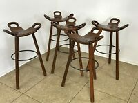 Five Bar Stools Barhocker Attributed to Carl Malmsten Sweden Design 50er 60er