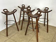Five Bar Stools Barhocker Attributed to Carl Malmsten Sweden Design 50er 60er