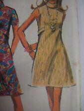 Vintage 60s McCall 2206 BIAS ROLL COLLAR DARTED MINI DRESS Sewing Pattern Women