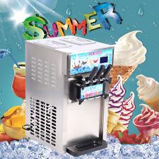 1200W 18L/H Soft Ice Cream 3 Flavor Steel Frozen Yogurt Cone Maker Machine