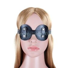 PU-Leather Eye Mask Blindfold Fetish Party Restraints PATCH Blinder Roleplay