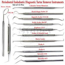 Dental Sickle Scaler Hemostatic Forceps Needle Holder Forceps Rubber Dam Clamps