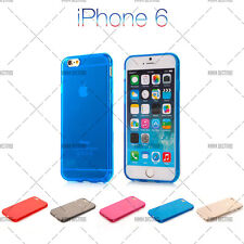 COQUE HOUSSE SILICONE IPHONE 6 / 6S ROUGE, BLEU, ROSE, NOIR, TRANSPARENT + FILM