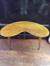 Retro Vintage COFFEE TABLE Kidney Shaped Teak Side Table Atomic Legs Mid Century