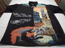 Up Rorz Graffiti Tagger Urban Graphic Skyscrapper Hipster Camp Shirt Size L