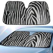 carXS Sun Shade Zebra Animal Print Front Window Windshield Visor Car Truck SUV