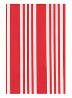 Holiday Tablecloth Stripe Eco Vinyl  Red and White Christmas (52 x 70 Rectangle)